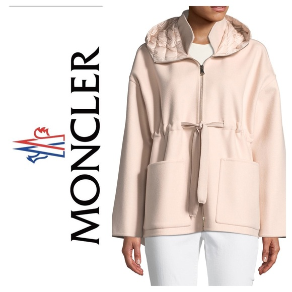 New Moncler Anglesite Hooded Jacket Pastel Pink S5 Boutique